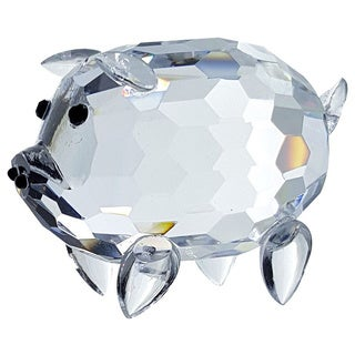 Crystal Florida Crystal Fatty Pig Figurine