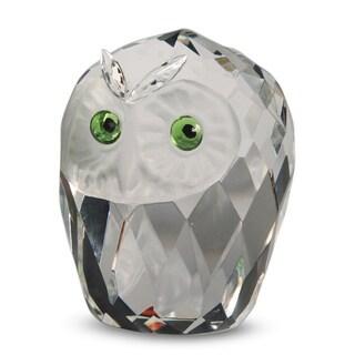 Crystal Florida Medium Crystal Owlhead Sculpture