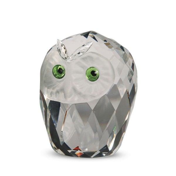 Crystal Florida Large Crystal Owlhead Sculpture