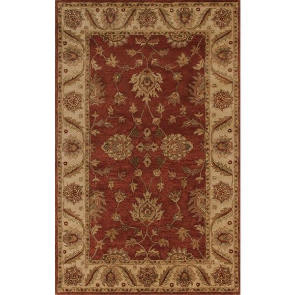 Imperial Burgundy/Camel Rug (5 x 8)