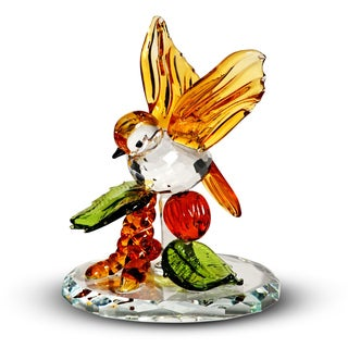 Crystal Florida Crystal Tropical Bird Figurine