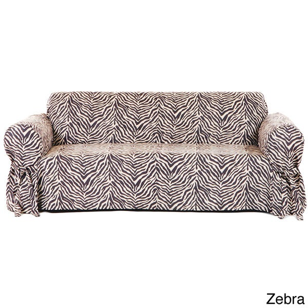 One Piece Microsuede Animal Print Loveseat Slipcover Overstock Shopping Big Discounts On
