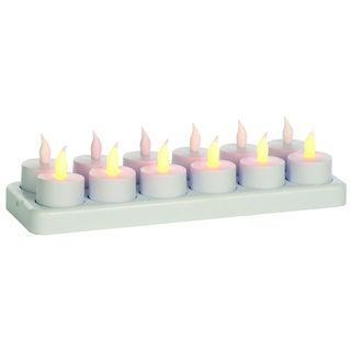 Sage & Co White Tealights/ Rechargeable Base (Set of 24)