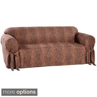 Animal Print Microsuede Sofa Slipcover