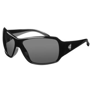 Ryders Unisex Caribou Polar Black Grey Lens Sunglasses
