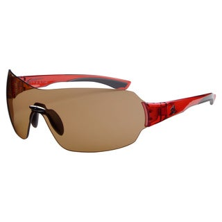 Ryders Unisex Via Crystal Red Brown Lens Sunglasses