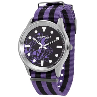Ed Hardy Men's Maverick Purple Quartz Watch