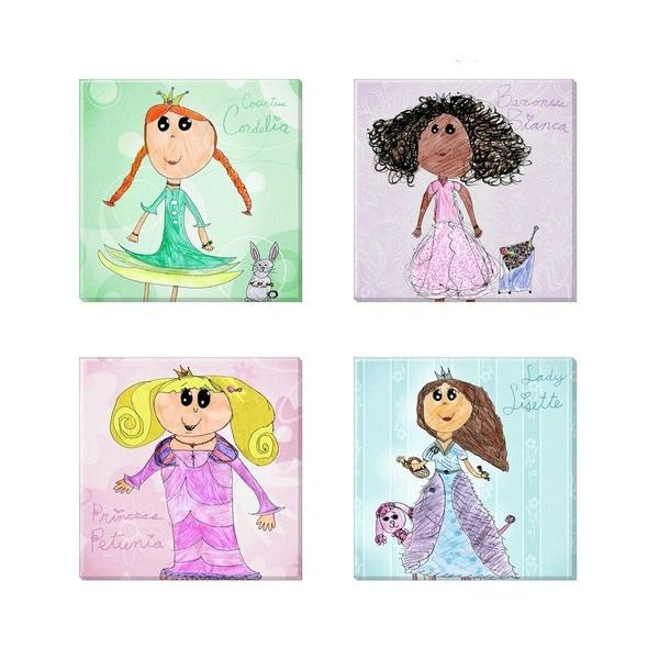 'Amberton Publishing Princess Friends' Canvas Art (Set of 4)