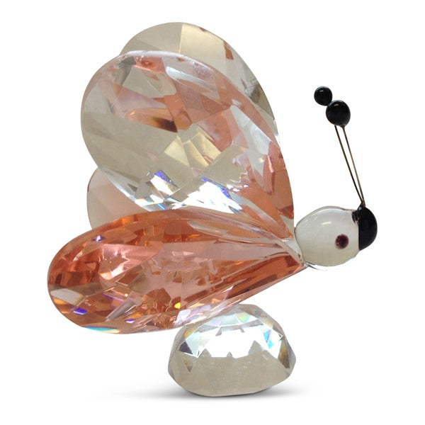 Small Crystal Pink Wings Butterfly Figurine
