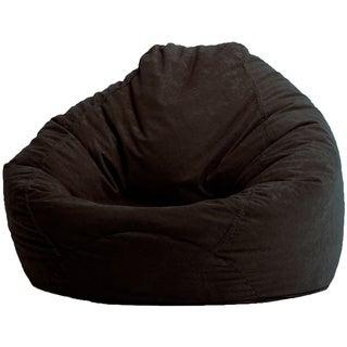BeanSack Black Microsuede Bean Bag Lounge Chair