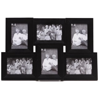Melannco Black 6-opening Ribbed Collage Frame