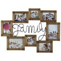 Melannco 8-opening Family Wire and Wood Collage Frame