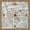 Gold Compass Art Clock