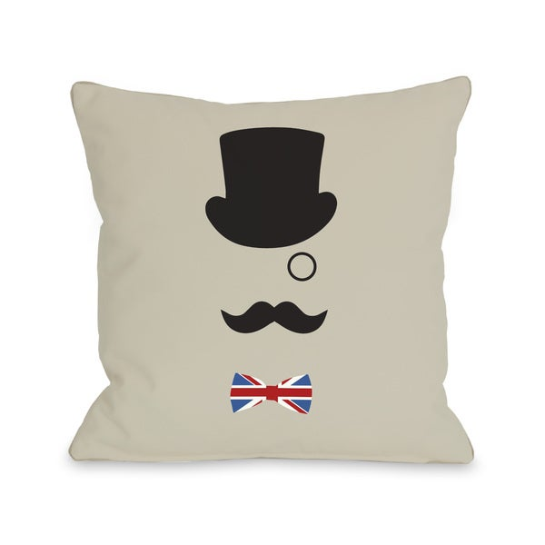 A British Gentleman Throw Pillow