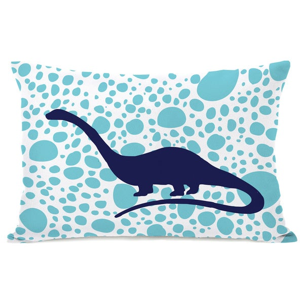 Apatosaurus Spots Throw Pillow