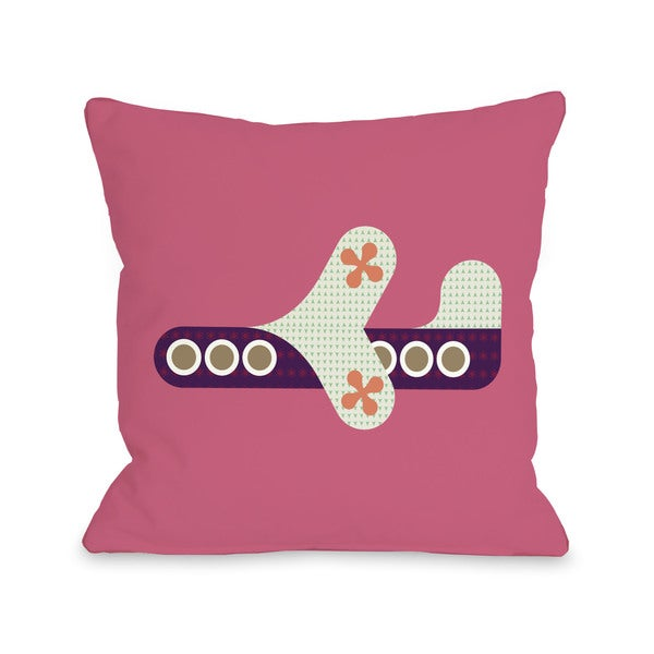 Airplane Honeysuckle Throw Pillow