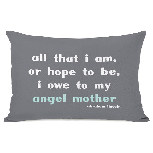 Angel Mother Throw Pillow