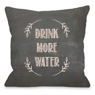 Drink More Water Chalkboard Throw Pillow