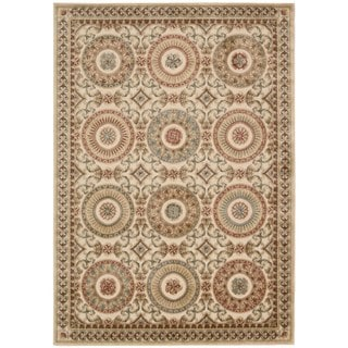kathy ireland by Nourison Villa Retreat Cream Rug (5'3 x 7'5)
