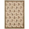 kathy ireland Home Villa Retreat Floral Cream Rug (7'9 x 10'10)