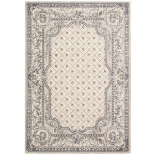 kathy ireland Home Villa Retreat Ivory Grey Rug (5'3 x 7'5)