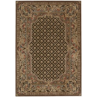 kathy ireland Villa Retreat Euro Century Garden Room Chocolate Area Rug by Nourison (7'9 x 10'10)