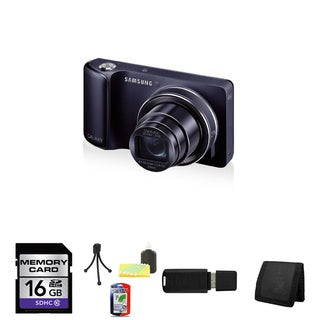 Samsung GC100 Galaxy 16.1MP Black Digital Camera (AT&T) 16GB Bundle