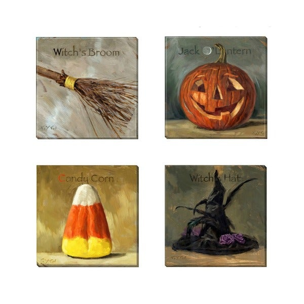 Amberton Publishing 'Halloween Magic' 4-piece Canvas Art Set