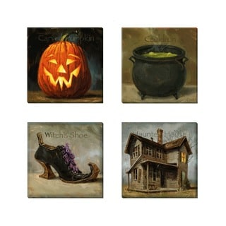 Amberton Publishing 'Halloween Memories' 4-piece Canvas Art