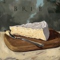 'Amberton Publishing Brie Cheese' Canvas Art