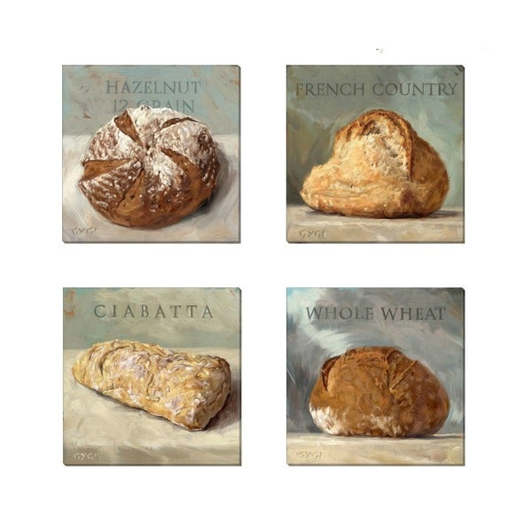 'Amberton Publishing Dough It Up Breads' Canvas art (Set of 4)