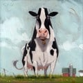 'Amberton Publishing Cow' Canvas Art