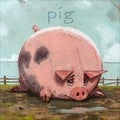 'Amberton Publishing Pig' Canvas Art