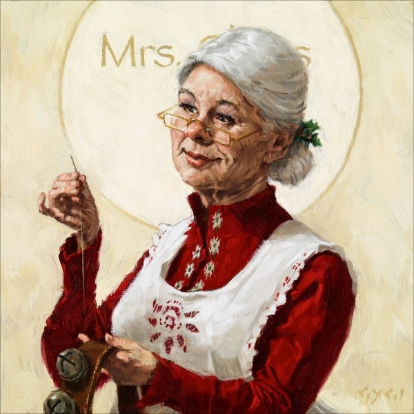 'Amberton Publishing Mrs. Claus' Canvas Art