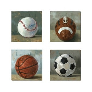 'Amberton Publishing Sports Fans' Canvas Art (Set of 4)