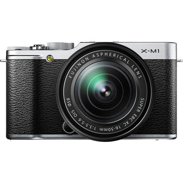 Fujifilm X-M1 16.3MP Silver Mirrorless Digital Camera with 16-50mm Lens