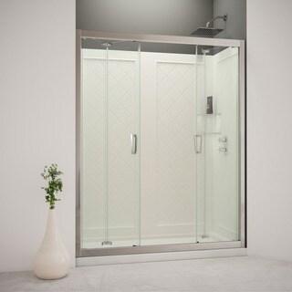 DreamLine Butterfly Bi-Fold Shower Door, Shower Base and Backwall Kit