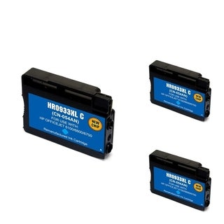 HP 933XLC Cyan Ink Cartridge (Remanufactured) (Pack of 3)