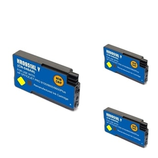 HP 951XL Yellow Ink Cartridge (Remanufactured) (Pack of 3)