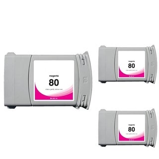 INSTEN HP 80 Magenta Ink Cartridge (Remanufactured) (Pack of 3)