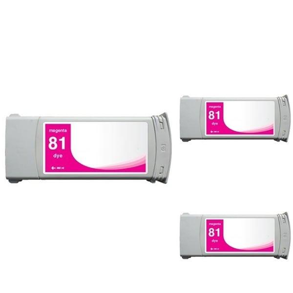 INSTEN HP 81 Magenta Ink Cartridge (Remanufactured) (Pack of 3)