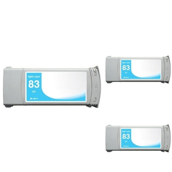 INSTEN HP 83 Cyan Ink Cartridge (Remanufactured) (Pack of 3)
