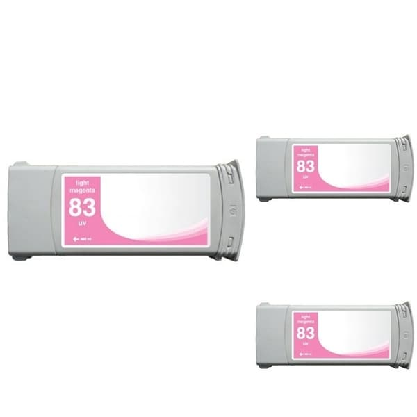 INSTEN HP 83 Magenta Ink Cartridge (Remanufactured) (Pack of 3)