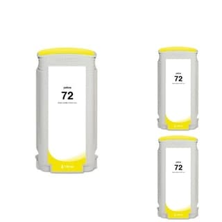 HP 72 Yellow Ink Cartridge (Remanufactured) (Pack of 3)