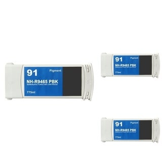 INSTEN HP 90 Photo Black Ink Cartridge (Remanufactured) (Pack of 3)
