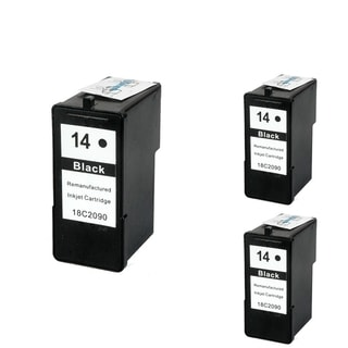 INSTEN Lexmark 14 Black Ink Cartridge (Remanufactured) (Pack of 3)