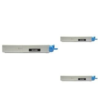 Insten Premium Black Color Toner Cartridge 43459304 for OKI C3300/ C3400C3520