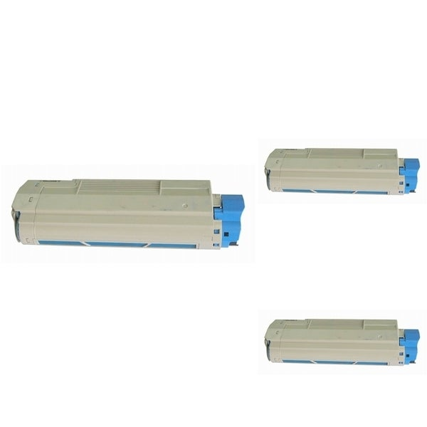 Insten Premium Cyan Color Toner Cartridge 44315303 for OKI C610