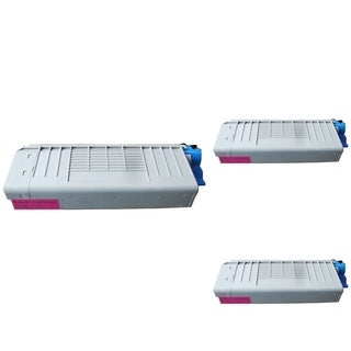BasAcc Magenta Toner Cartridge Compatible with Okidata C710/ C711