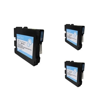 BasAcc Cyan Ink Cartridge Compatible with Ricoh GC21/ GC21H